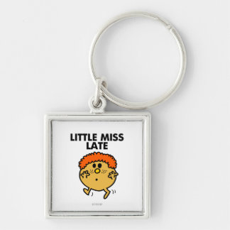 Little Miss Late | Black Lettering Keychain