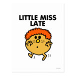 Little Miss Late | Black Lettering Postcard