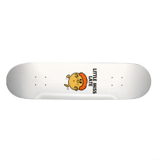 Little Miss Late | Black Lettering Skateboard Deck