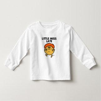 Little Miss Late | Black Lettering Toddler T-shirt