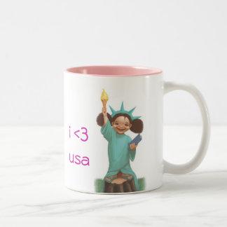 "Little Miss Liberty ""i <3 usa"" Mug"