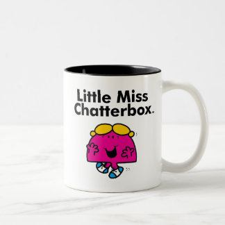 Little Miss | Little Miss Chatterbox is So Chatty Two-Tone Coffee Mug