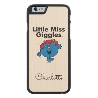 Little Miss | Little Miss Giggles Likes To Laugh Carved Maple iPhone 6 Slim Case