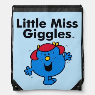 Little Miss | Little Miss Giggles Likes To Laugh Drawstring Backpack