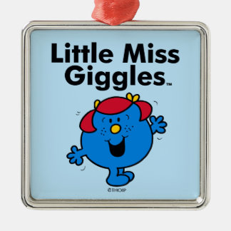 Little Miss   Little Miss Giggles Likes To Laugh Metal Ornament