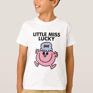 Little Miss Lucky   Black Lettering T-Shirt