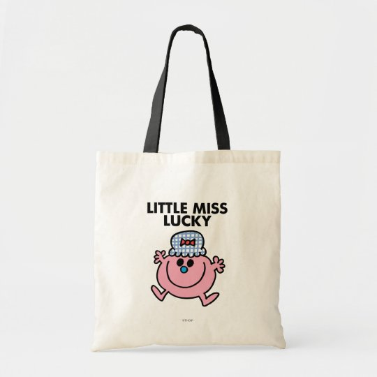 Little Miss Lucky   Black Lettering Tote Bag