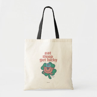 Little Miss Lucky's Motto | Green clover Tote Bag