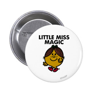 Little Miss Magic | Black Lettering 2 Inch Round Button