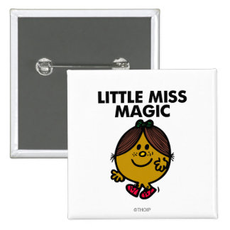 Little Miss Magic | Black Lettering 2 Inch Square Button