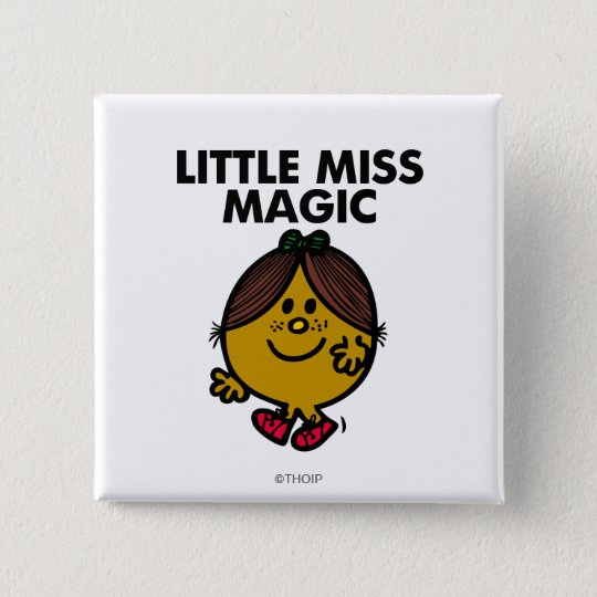 Little Miss Magic | Black Lettering Button