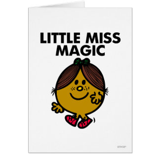 Little Miss Magic | Black Lettering Greeting Card