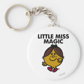 Little Miss Magic | Black Lettering Basic Round Button Keychain