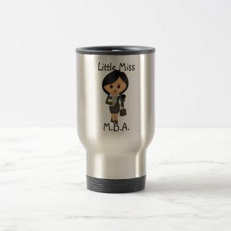 Little Miss MBA - Brunette / Black hair female 15 Oz Stainless Steel Travel Mug