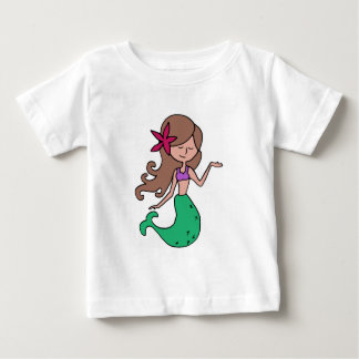 Little Miss Mermaid - Brunette Hair T Shirt