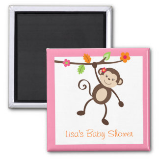 Little Miss Monkey Party Favor Magnets