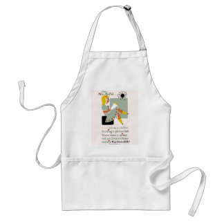 Little Miss Muffet. 1940 reading promotion poster Adult Apron