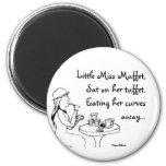 Little Miss Muffet 2 Inch Round Magnet