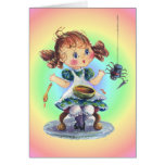LITTLE MISS MUFFET by SHARON SHARPE Greeting Card