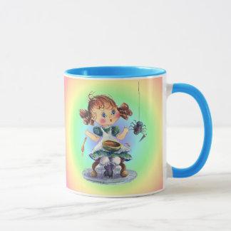 LITTLE MISS MUFFET by SHARON SHARPE Mug