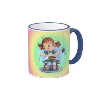 LITTLE MISS MUFFET by SHARON SHARPE Mugs