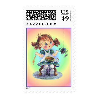 LITTLE MISS MUFFET by SHARON SHARPE Stamp