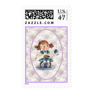 LITTLE MISS MUFFET by SHARON SHARPE Postage Stamp