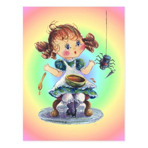 LITTLE MISS MUFFET by SHARON SHARPE Postcard