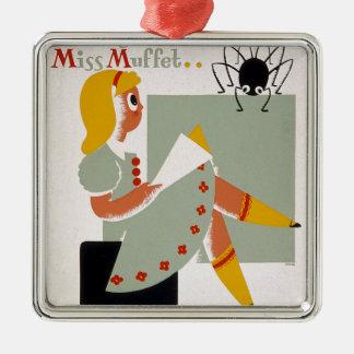 Little Miss Muffet Metal Ornament