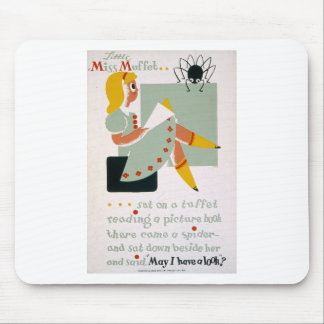 Little Miss Muffet Mouse Pad