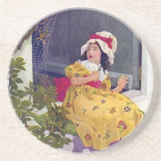 Little Miss Muffet Nursery Rhyme Drink Coaster