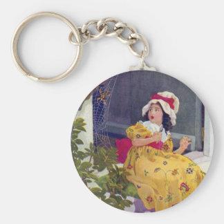 Little Miss Muffet Nursery Rhyme Keychain