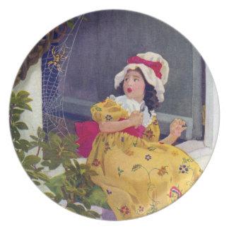 Little Miss Muffet Nursery Rhyme Melamine Plate