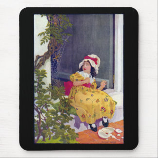 Little Miss Muffet Nursery Rhyme Mouse Pad