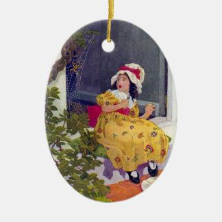 Little Miss Muffet Nursery Rhyme Ornaments