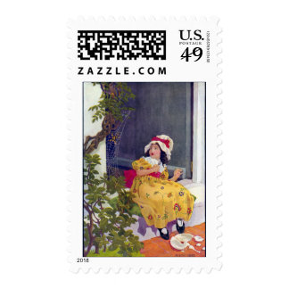Little Miss Muffet Nursery Rhyme Stamp