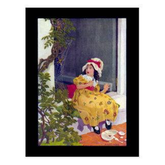 Little Miss Muffet Nursery Rhyme Post Cards