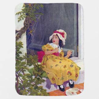 Little Miss Muffet Nursery Rhyme Swaddle Blanket
