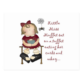 Little Miss Muffet Postcard
