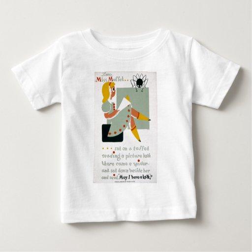 Little Miss Muffet Sat on a Tuffet 1940 poster Baby T-Shirt
