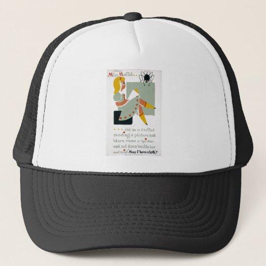 Little Miss Muffet Sat on a Tuffet 1940 poster Trucker Hat