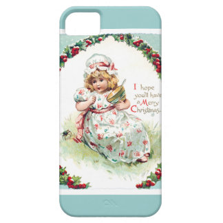 Little Miss Muffet Vintage Christmas Card iPhone 5 Cases