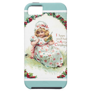 Little Miss Muffet Vintage Christmas Card iPhone 5 Cover