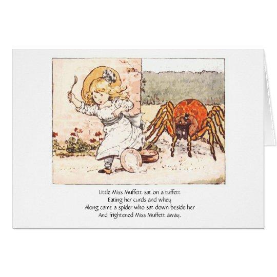 Little Miss Muffett & Spider, Greeting Card