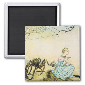 Little Miss Muffit 2 Inch Square Magnet