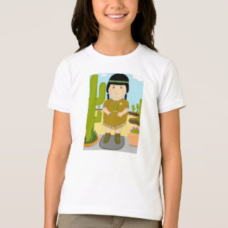 Little Miss Native American Indian T-Shirt