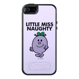 Little Miss Naughty | Black Lettering OtterBox iPhone 5/5s/SE Case