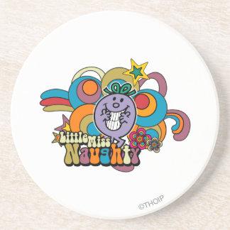 Little Miss Naughty Rainbow Sandstone Coaster