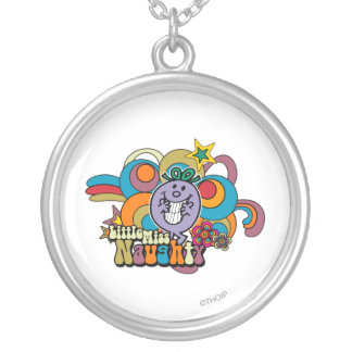 Little Miss Naughty Rainbow Silver Plated Necklace