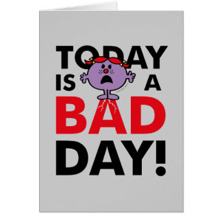 Little Miss Naughty | Today is a Bad Day Card